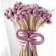 Букет розово-золотых хромированных ромашек