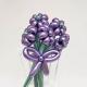 Букет фиолетовых ромашек из хромированных шаров