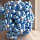 Букет голубо-серебряных ромашек из хромированных шаров