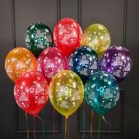 Воздушные  шары С Днем рождения кристалл
