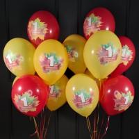 Воздушные шары на 1 сентября разных цветов