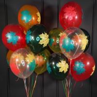 Воздушные шары на 1 сентября Кленовые листья