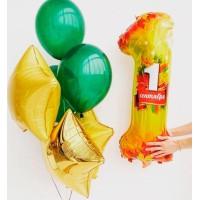 Воздушные шары на 1 сентября с цифрой и звездами