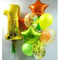 Воздушные шары на 1 сентября Яркая Осень