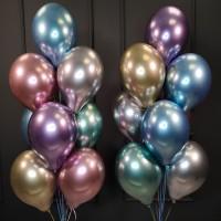Композиция из 20 хромированных шаров ассорти