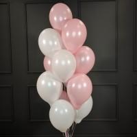Фонтан из розово-белых шаров пастель