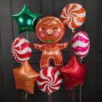 Композиция из шаров праздничная с Печенькой