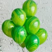Облако из зелёных шаров агат