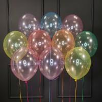 Воздушные разноцветные шары нежный кристалл