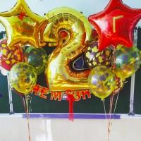 Фольгированная цифра с шарами на 1 сентября