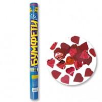 Хлопушка с конфетти сердечки - 60 см