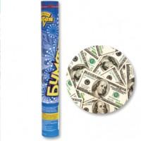 Хлопушка с конфетти Доллары 40 см
