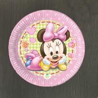 Набор тарелок Малышка Минни 17 см - 8 шт