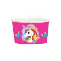 Стакан для мороженого Единорог Радужный - 8 шт