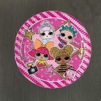 Набор тарелок Куклы Лол  20 см - 8 шт
