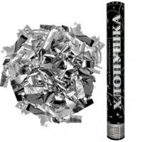 Хлопушка пневматическая  серебряные конфетти