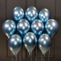 Воздушные шары синий хром