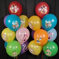 Композиция из шаров ассорти с Микки и его друзьями