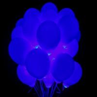 Облако синих шаров со светодиодами